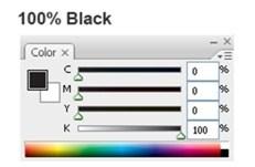 text 100 Black