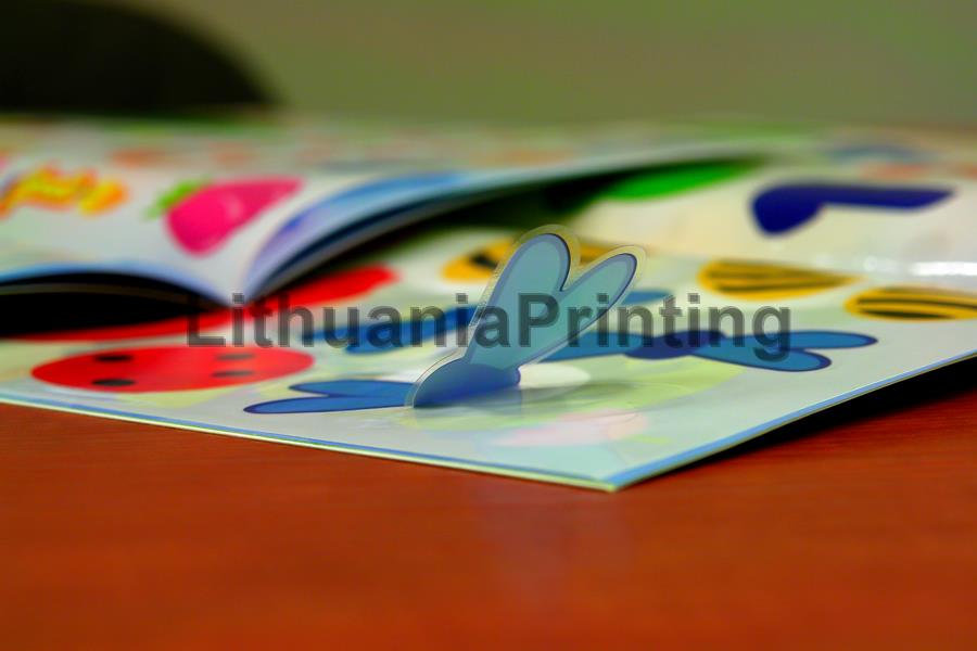 Book with stickers printing